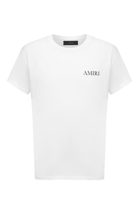 Мужская хлопковая футболка AMIRI белого цвета, арт. F0M03232CJ | Фото 1