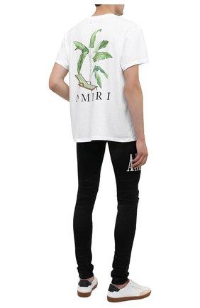 Мужская хлопковая футболка AMIRI белого цвета, арт. F0M03232CJ | Фото 2