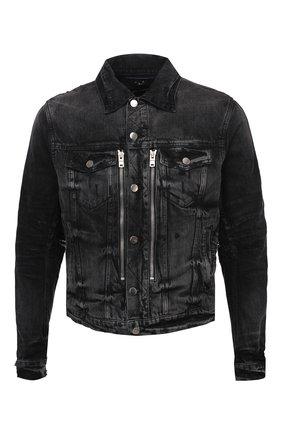 Мужская джинсовая куртка AMIRI черного цвета, арт. F0M04178RD | Фото 1