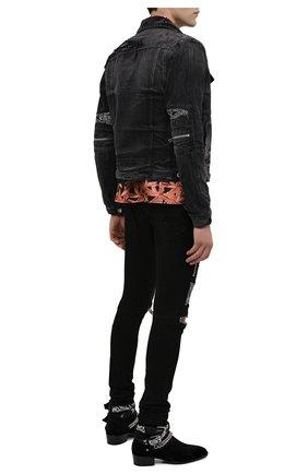 Мужская джинсовая куртка AMIRI черного цвета, арт. F0M04178RD | Фото 2