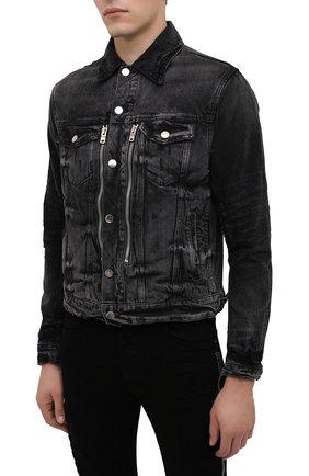 Мужская джинсовая куртка AMIRI черного цвета, арт. F0M04178RD | Фото 4