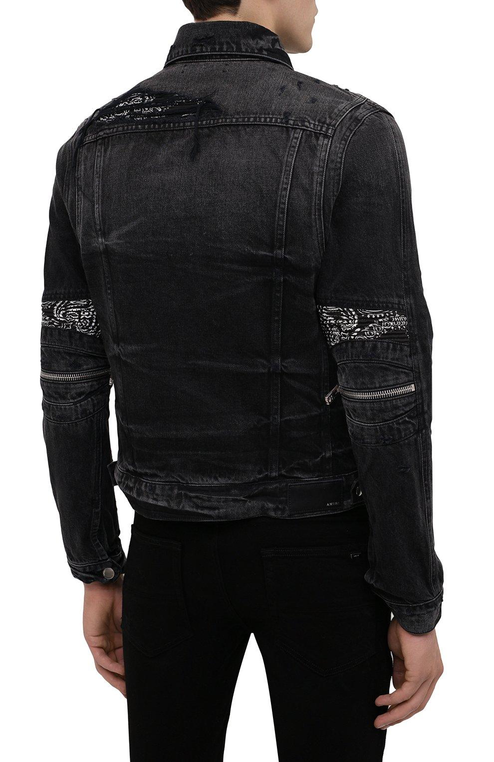 Мужская джинсовая куртка AMIRI черного цвета, арт. F0M04178RD | Фото 5