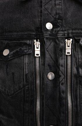 Мужская джинсовая куртка AMIRI черного цвета, арт. F0M04178RD | Фото 6