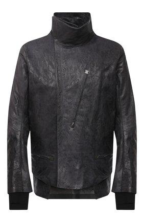 Мужская кожаная куртка ISAAC SELLAM темно-серого цвета, арт. DEPASSE-CRASSE-P0UILLE | Фото 1