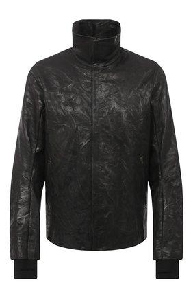 Мужская кожаная куртка ISAAC SELLAM черного цвета, арт. FUMISTE-CRASSE-P0UILLE | Фото 1