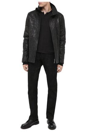 Мужская кожаная куртка ISAAC SELLAM черного цвета, арт. FUMISTE-CRASSE-P0UILLE | Фото 2