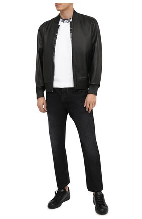 Мужские кожаные кеды PHILIPP PLEIN черного цвета, арт. F20S MSC2825 PLE075N | Фото 2