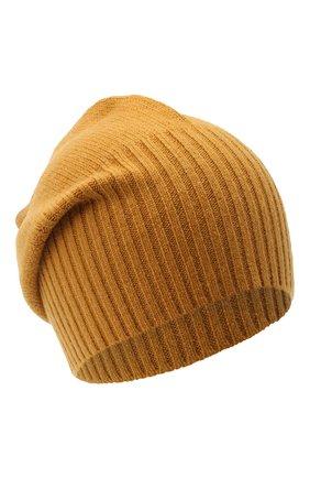 Мужская кашемировая шапка ALLUDE светло-коричневого цвета, арт. 205/30027 | Фото 1 (Материал: Кашемир, Шерсть; Кросс-КТ: Трикотаж)