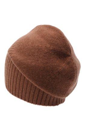 Мужская кашемировая шапка ALLUDE коричневого цвета, арт. 205/30027 | Фото 2 (Материал: Шерсть, Кашемир; Кросс-КТ: Трикотаж)
