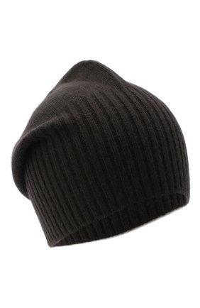 Мужская кашемировая шапка ALLUDE темно-коричневого цвета, арт. 205/30027 | Фото 1 (Материал: Шерсть, Кашемир; Кросс-КТ: Трикотаж)