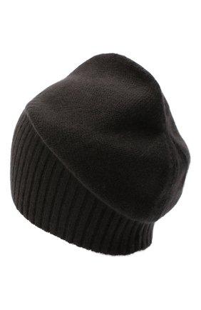Мужская кашемировая шапка ALLUDE темно-коричневого цвета, арт. 205/30027 | Фото 2 (Материал: Шерсть, Кашемир; Кросс-КТ: Трикотаж)