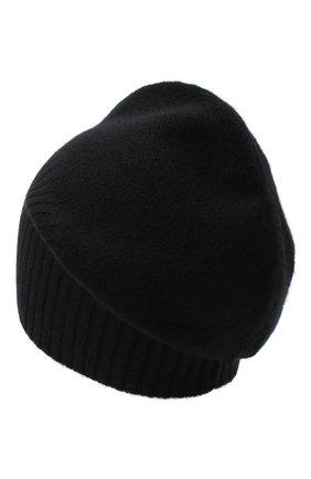 Мужская кашемировая шапка ALLUDE черного цвета, арт. 205/30027 | Фото 2 (Материал: Шерсть, Кашемир; Кросс-КТ: Трикотаж)