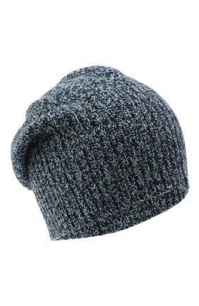 Мужская кашемировая шапка ALLUDE синего цвета, арт. 205/30037 | Фото 1 (Материал: Шерсть, Кашемир; Кросс-КТ: Трикотаж)