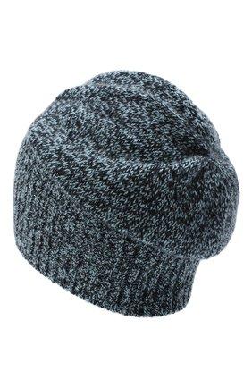 Мужская кашемировая шапка ALLUDE синего цвета, арт. 205/30037 | Фото 2 (Материал: Шерсть, Кашемир; Кросс-КТ: Трикотаж)