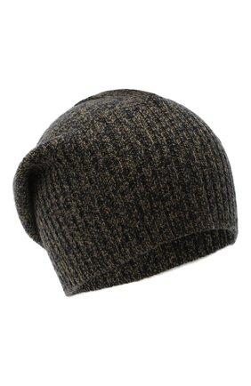 Мужская кашемировая шапка ALLUDE коричневого цвета, арт. 205/30037 | Фото 1 (Материал: Кашемир, Шерсть; Кросс-КТ: Трикотаж)