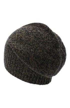 Мужская кашемировая шапка ALLUDE коричневого цвета, арт. 205/30037 | Фото 2 (Материал: Кашемир, Шерсть; Кросс-КТ: Трикотаж)