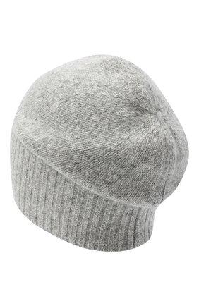 Мужская кашемировая шапка ALLUDE серого цвета, арт. 205/30037 | Фото 2 (Материал: Шерсть, Кашемир; Кросс-КТ: Трикотаж)