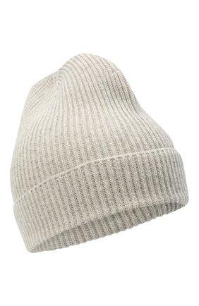 Мужская кашемировая шапка TOM FORD светло-серого цвета, арт. BVK88/TFK800 | Фото 1