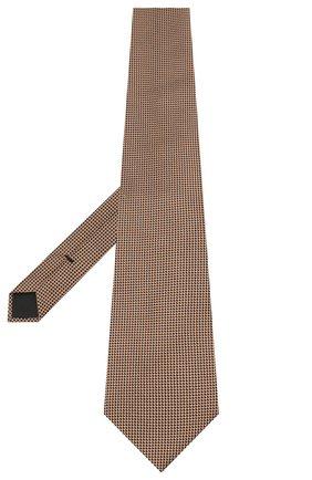 Мужской шелковый галстук TOM FORD бежевого цвета, арт. 8TF24/XTF | Фото 2
