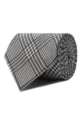 Мужской шелковый галстук TOM FORD темно-серого цвета, арт. 8TF18/XTF | Фото 1 (Материал: Текстиль; Принт: С принтом)