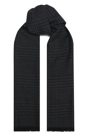 Мужской шерстяной шарф TOM FORD темно-серого цвета, арт. 8TF140/2FD | Фото 1 (Материал: Шерсть)