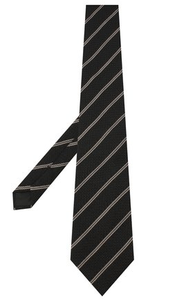 Мужской галстук из шелка и шерсти TOM FORD черного цвета, арт. 8TF14/XTF   Фото 2