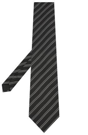 Мужской шелковый галстук TOM FORD черного цвета, арт. 8TF13/XTF   Фото 2