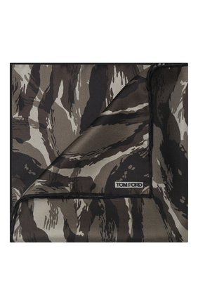 Мужской шелковый платок TOM FORD коричневого цвета, арт. 8TF111/TF312 | Фото 1