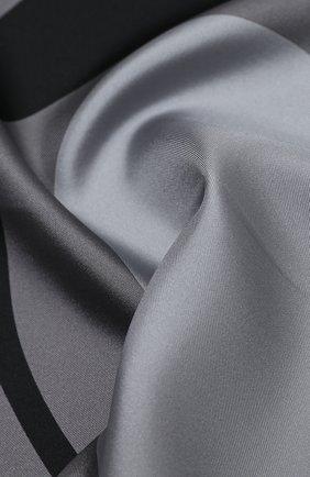 Мужской шелковый платок TOM FORD темно-серого цвета, арт. 8TF106/TF312 | Фото 2 (Материал: Текстиль)