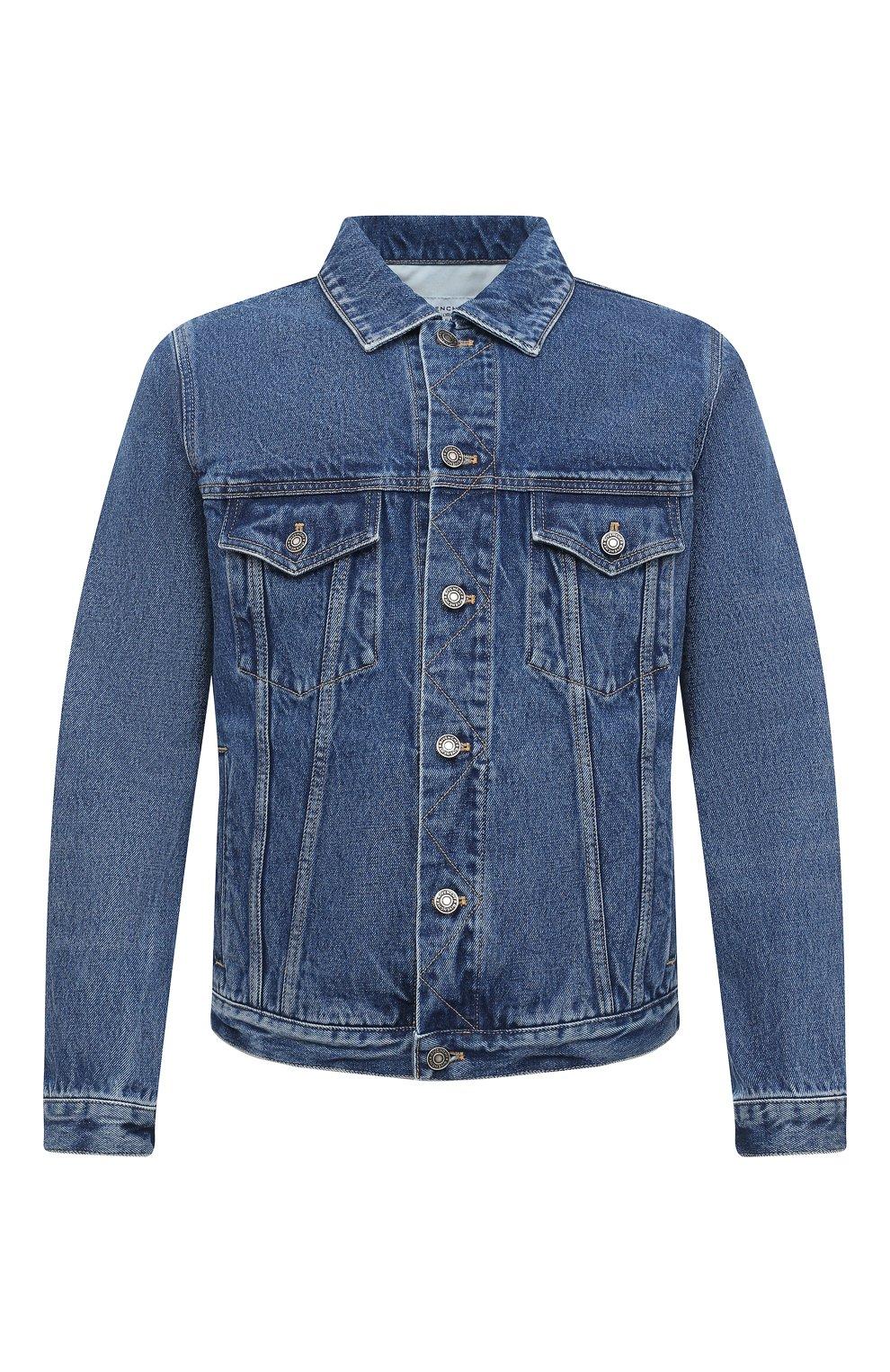 Мужская джинсовая куртка GIVENCHY синего цвета, арт. BM00CY50G3 | Фото 1