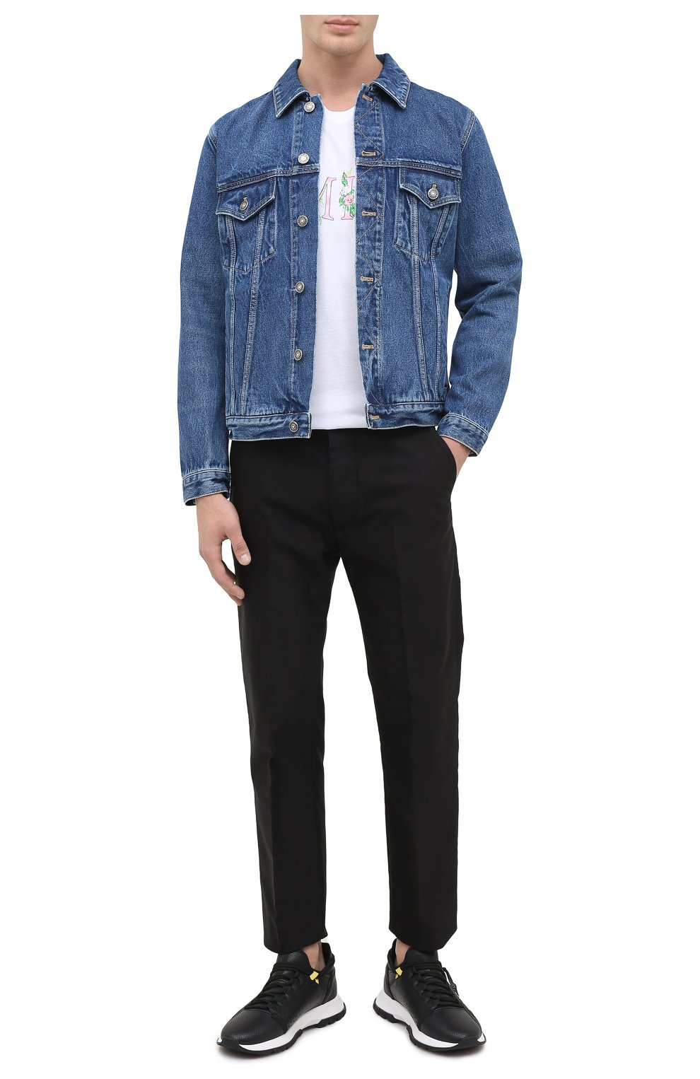 Мужская джинсовая куртка GIVENCHY синего цвета, арт. BM00CY50G3 | Фото 3