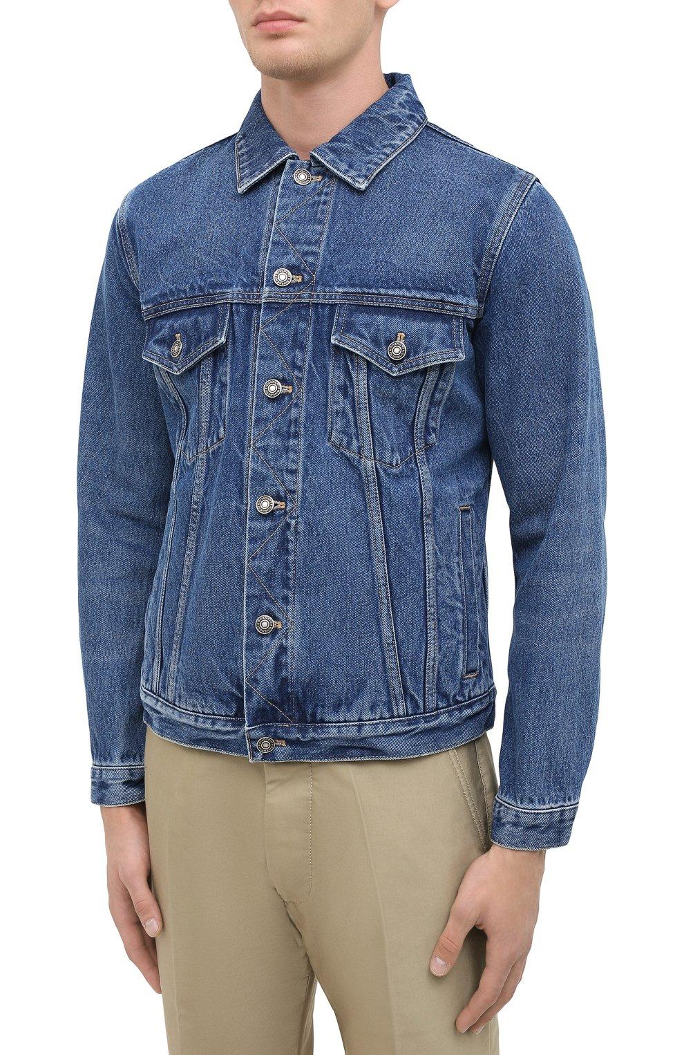 Мужская джинсовая куртка GIVENCHY синего цвета, арт. BM00CY50G3 | Фото 4