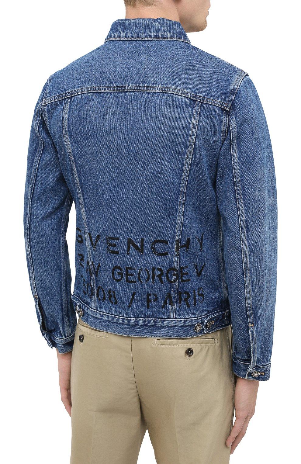 Мужская джинсовая куртка GIVENCHY синего цвета, арт. BM00CY50G3 | Фото 5