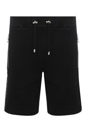 Мужские хлопковые шорты BALMAIN черного цвета, арт. UH05634/I379 | Фото 1