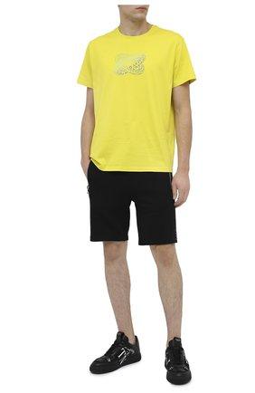 Мужские хлопковые шорты BALMAIN черного цвета, арт. UH05634/I379 | Фото 2