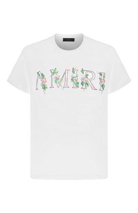 Мужская хлопковая футболка AMIRI белого цвета, арт. F0M03234CJ | Фото 1