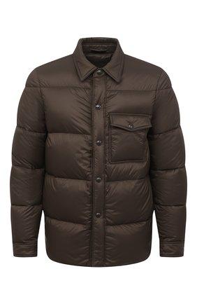 Мужская пуховая куртка TOM FORD коричневого цвета, арт. BV060/TF0370 | Фото 1