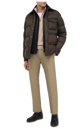 Мужская пуховая куртка TOM FORD коричневого цвета, арт. BV060/TF0370 | Фото 2
