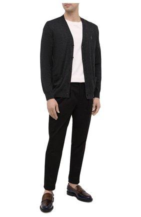 Мужской шерстяной кардиган POLO RALPH LAUREN темно-серого цвета, арт. 710763372 | Фото 2 (Материал внешний: Шерсть; Рукава: Длинные; Длина (для топов): Стандартные; Мужское Кросс-КТ: Кардиган-одежда; Стили: Кэжуэл)