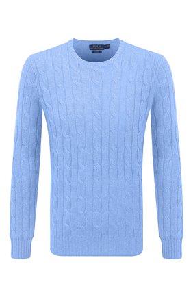 Мужской кашемировый джемпер POLO RALPH LAUREN синего цвета, арт. 710775749 | Фото 1