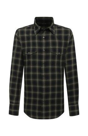 Мужская хлопковая рубашка TOM FORD хаки цвета, арт. 8FT273/94MEKI | Фото 1