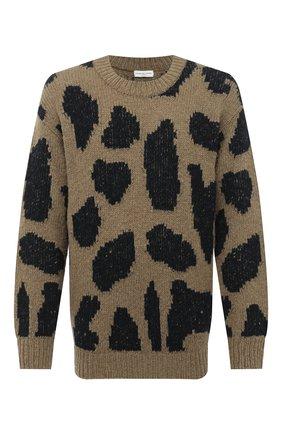 Мужской шерстяной свитер DRIES VAN NOTEN хаки цвета, арт. 202-21231-1704 | Фото 1