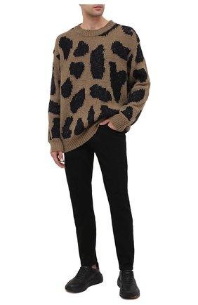 Мужской шерстяной свитер DRIES VAN NOTEN хаки цвета, арт. 202-21231-1704 | Фото 2