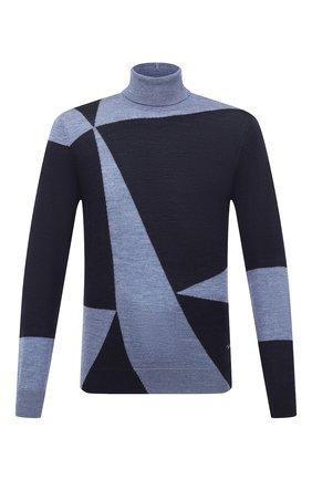Мужской шерстяная водолазка EMPORIO ARMANI синего цвета, арт. 6H1MXD/1MIXZ   Фото 1