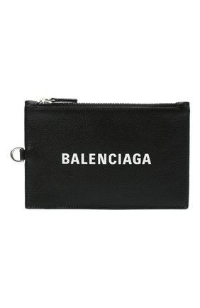 Мужской кожаный кошелек для монет BALENCIAGA черного цвета, арт. 616015/1IZI3 | Фото 1