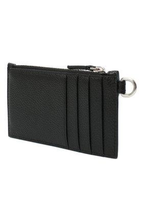Мужской кожаный футляр для кредитных карт BALENCIAGA черного цвета, арт. 594548/1IZI3 | Фото 2