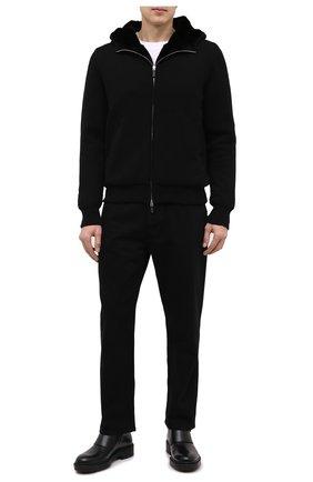 Мужская кашемировый кардиган с меховой подкладкой SVEVO черного цвета, арт. 0159SA20/MP01/2 | Фото 2
