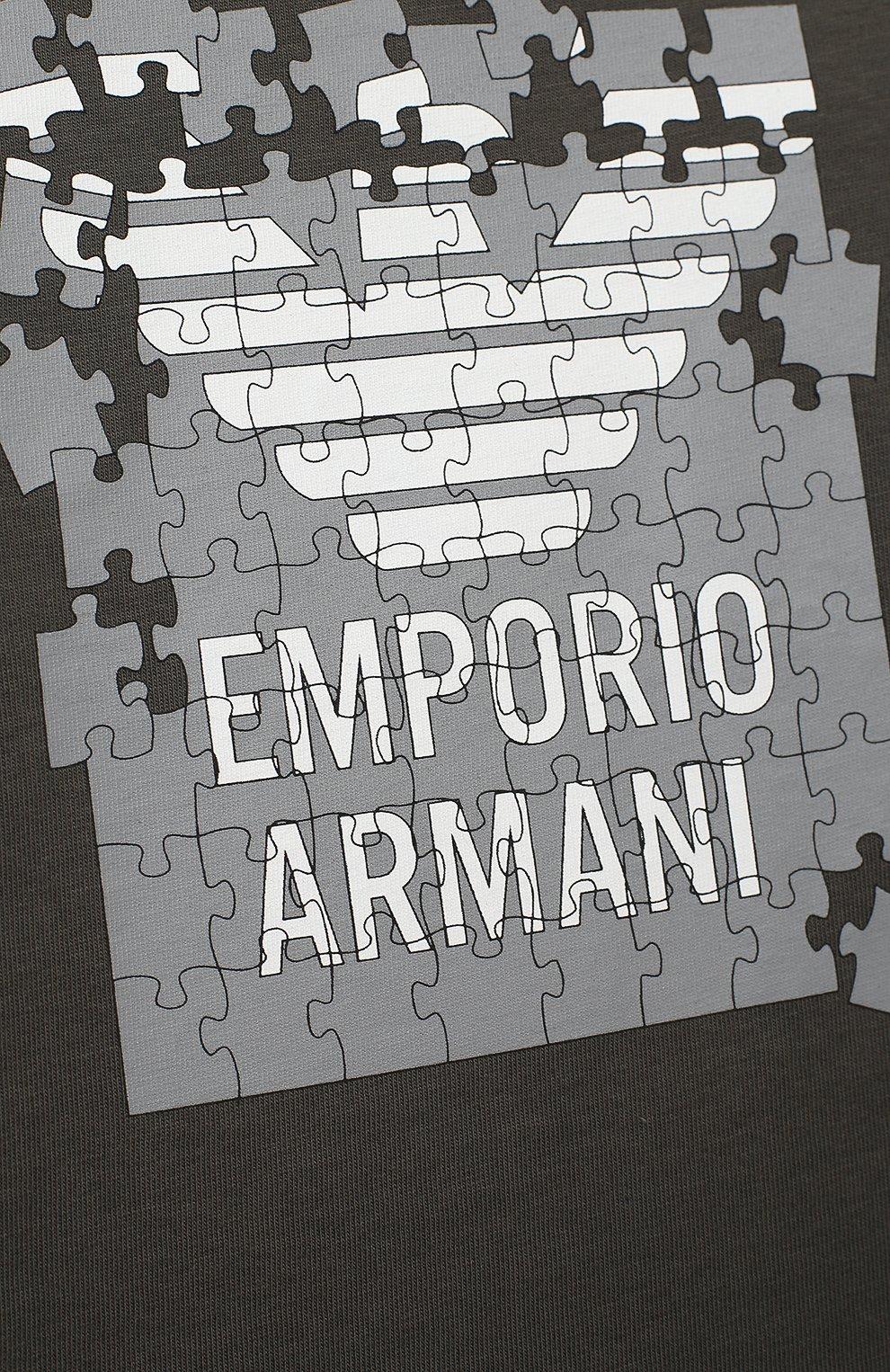 Детский комплект из трех лонгсливов EMPORIO ARMANI зеленого цвета, арт. 6HHD21/4J09Z | Фото 2