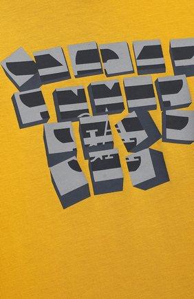 Детский комплект из трех лонгсливов EMPORIO ARMANI желтого цвета, арт. 6HHD21/4J09Z | Фото 5