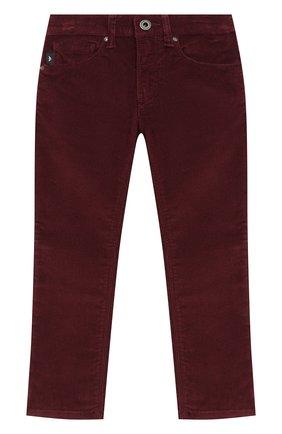Детские джинсы EMPORIO ARMANI бордового цвета, арт. 6H4J06/4N4TZ | Фото 1